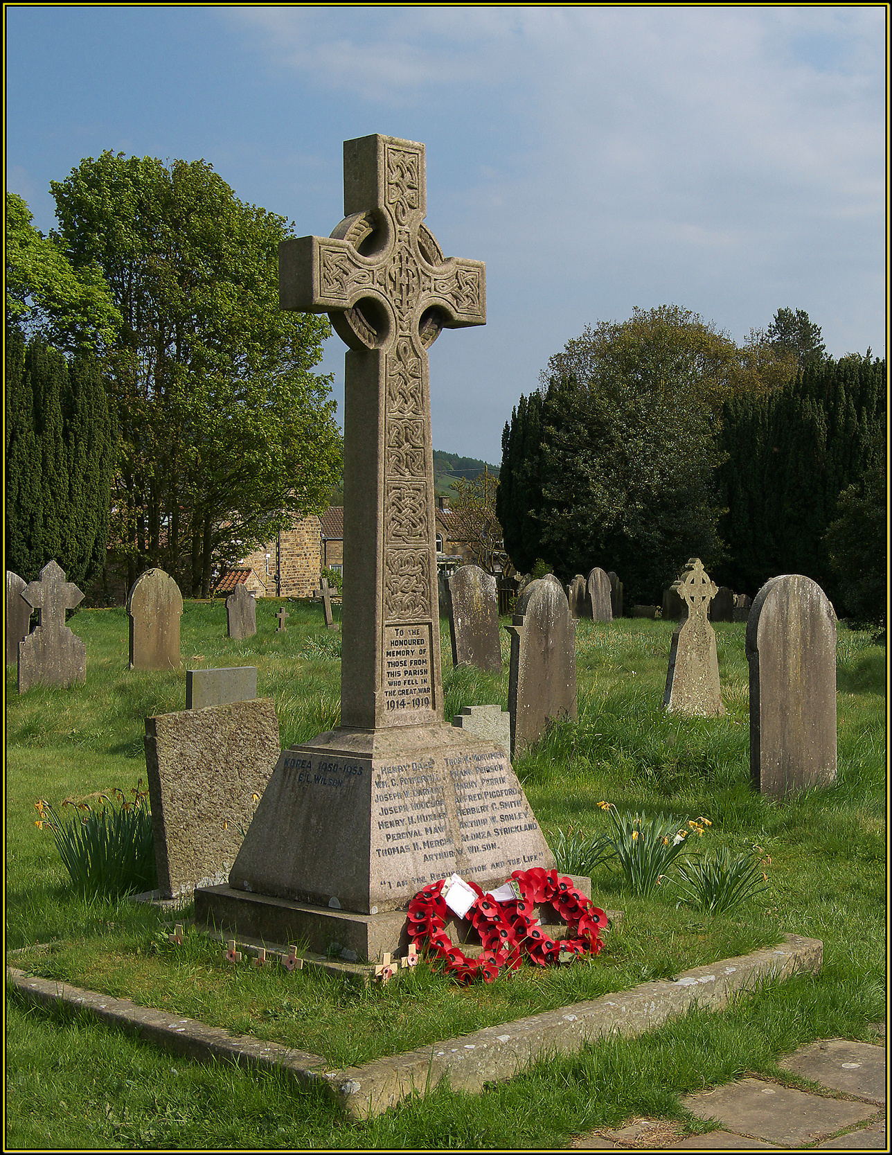 Rosedale War Memorial Cross
