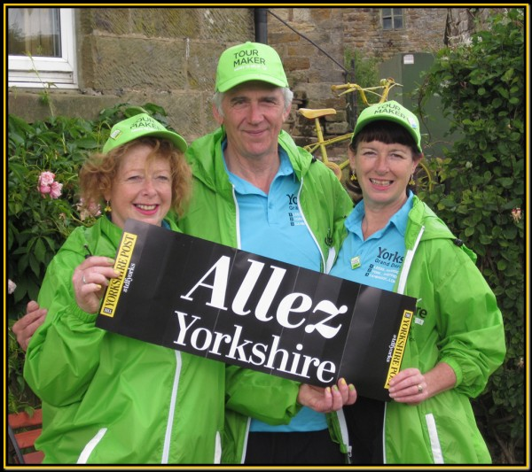 Maggie, Mike and Shirley at Littleborough on Stage 2