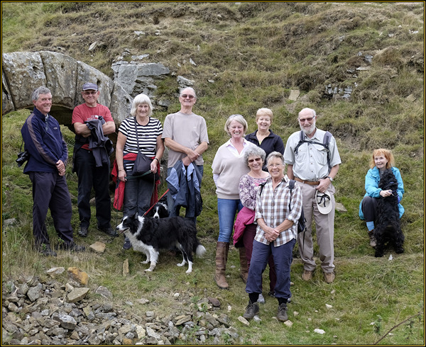History Walkers at East Mines