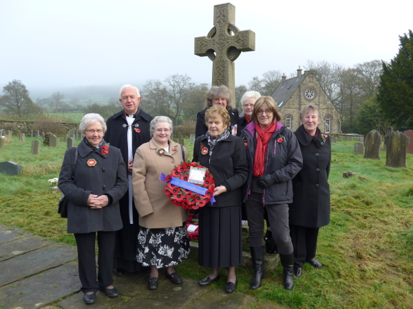 Rosedale & Hartoft W.I. with Fr  Michael Sinclair Remembrance Day 2015