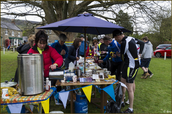 The pop-up tea and cake stall that raised £685 for the church and school.