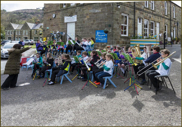 Even noisier - the children's  brass band!