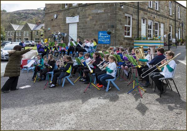 Even noisier - the children's  brass band!