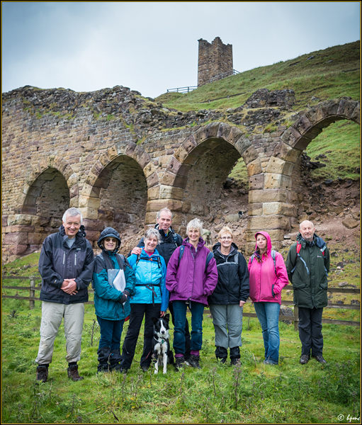 The Rosedale History Walkers led by Linda Chambers on Sunday