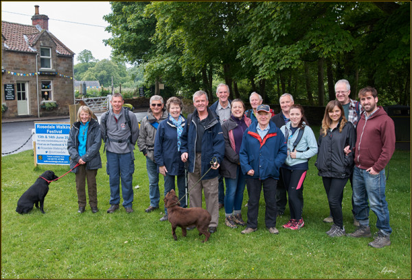 The Tea Shop Walkers led by Ian Thompson on Saturday.