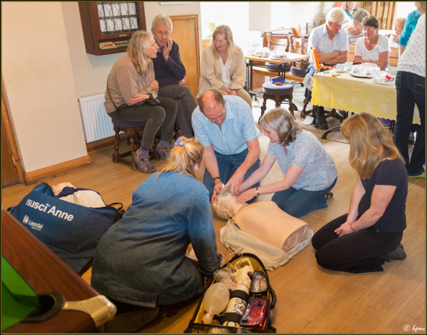 Volunteers in CPR Training