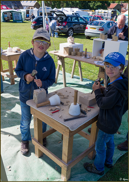 Mini masons at work