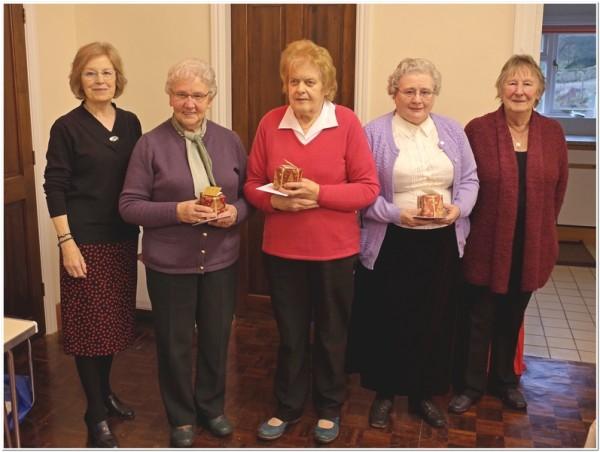 Linda Chambers (Secretary), Margaret Truran, CArol Cockerill, Monica Wilson and Janet Dring (Chair)