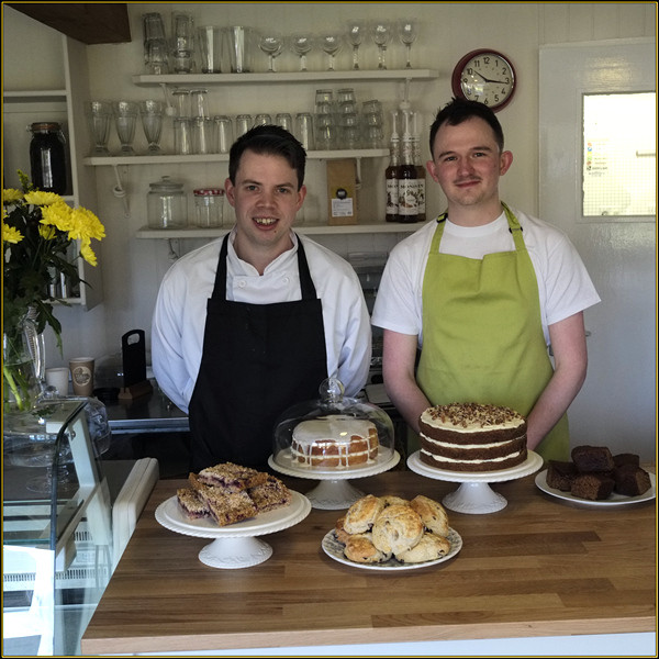 James and Darren ready to serve!
